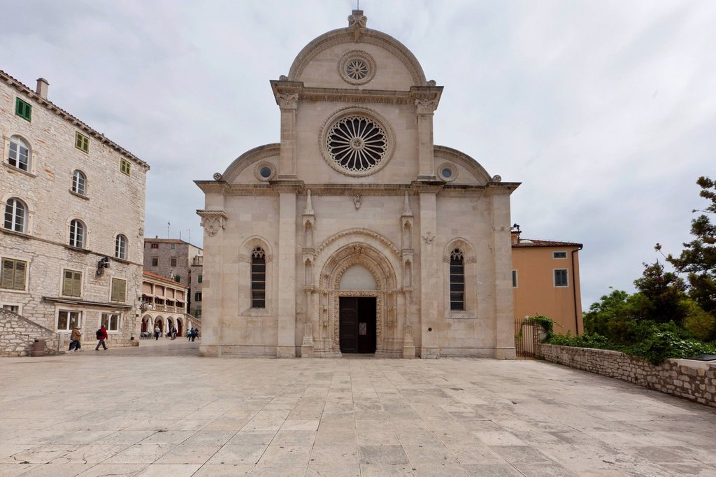 Stock Photo: 1848-577923 Katedrala svetog Jakova, Cathedral of St. James, UNESCO World Heritage Site, Sibenik, central Dalmatia, Adriatic coast, Europe, PublicGround