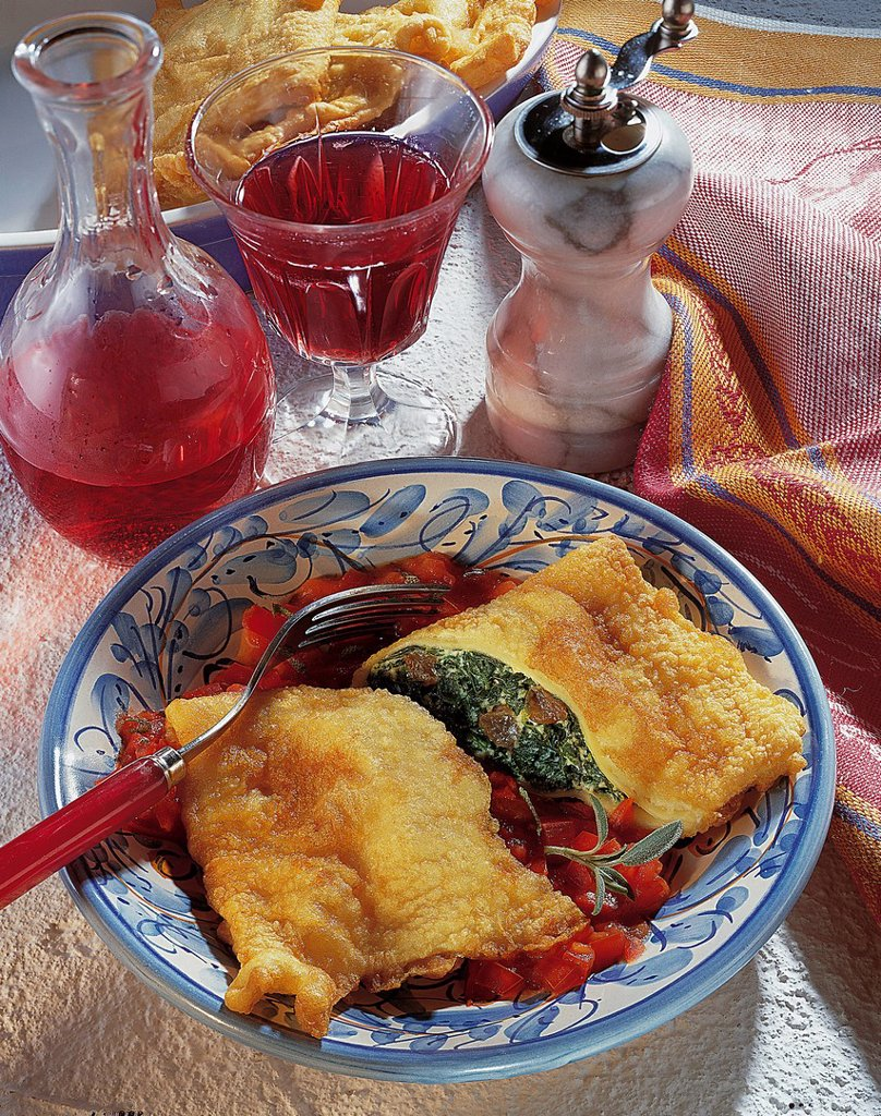 Fried cannelloni, Italy, recipe available for a fee : Stock Photo