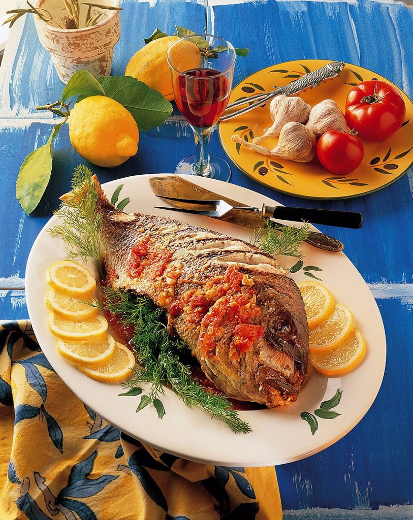 Stock Photo: 1848-578367 Provencal Dorado, France, recipe available for a fee