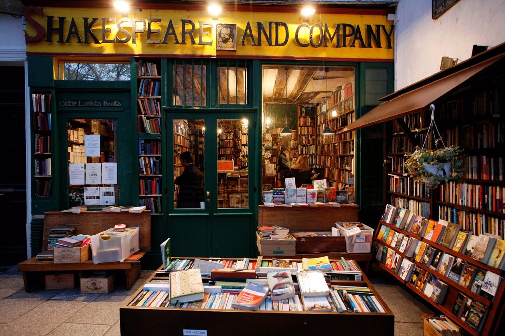 Stock Photo: 1848-578522 Shakespeare and Company, bookshop, Librairie, Paris, Ile de France, France, Europe