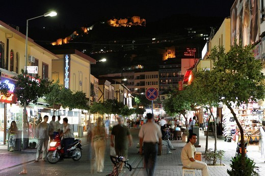 TUR, Turkey, Alanya : Turkish Riviera. Tourist quarter with shops and restaurants at the harbour. , : Stock Photo