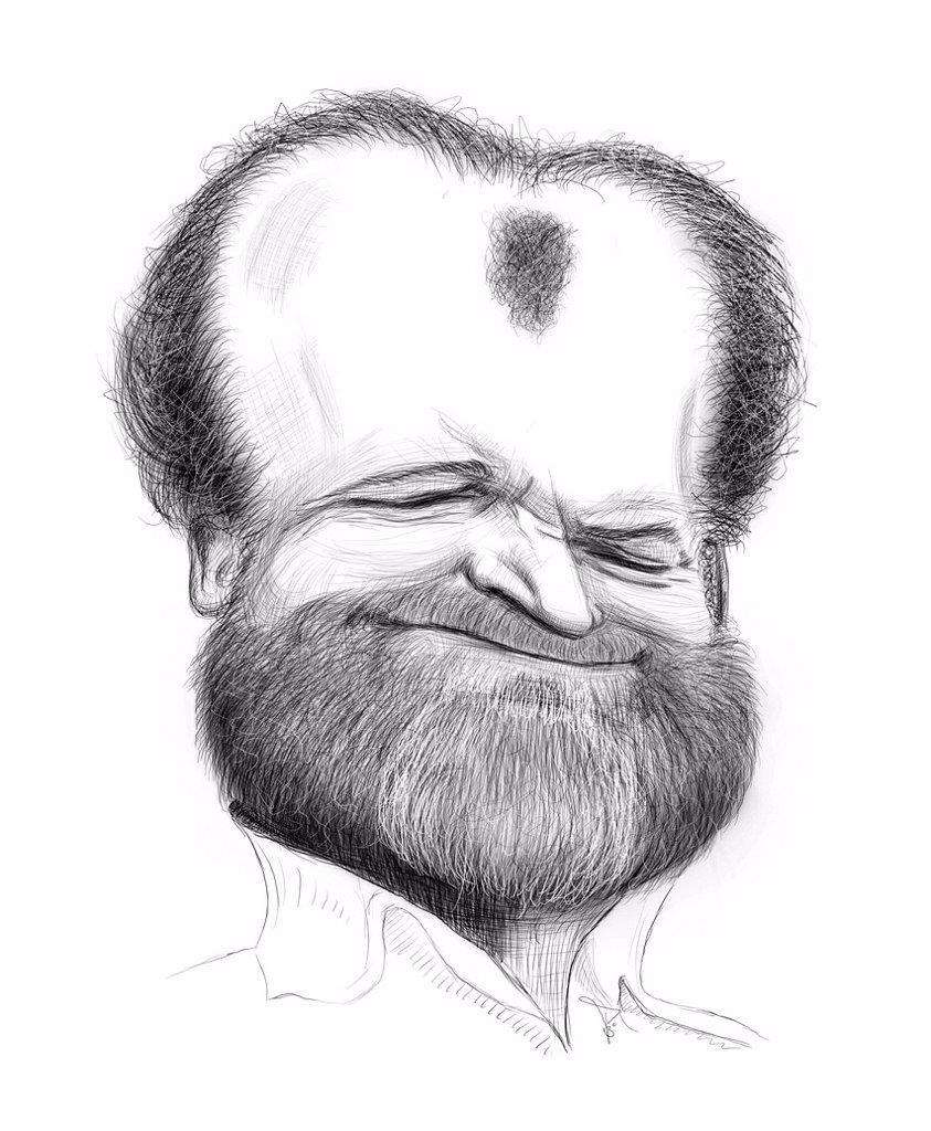 Caricature of Joe Cocker : Stock Photo