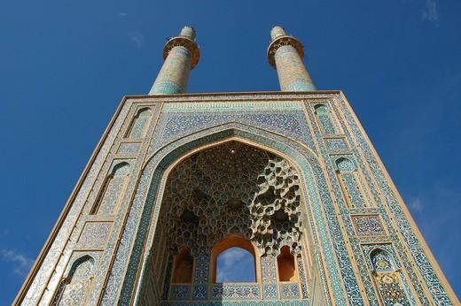 Stock Photo: 1848-57950 Minarets of friday mosque, Yazd, Iran