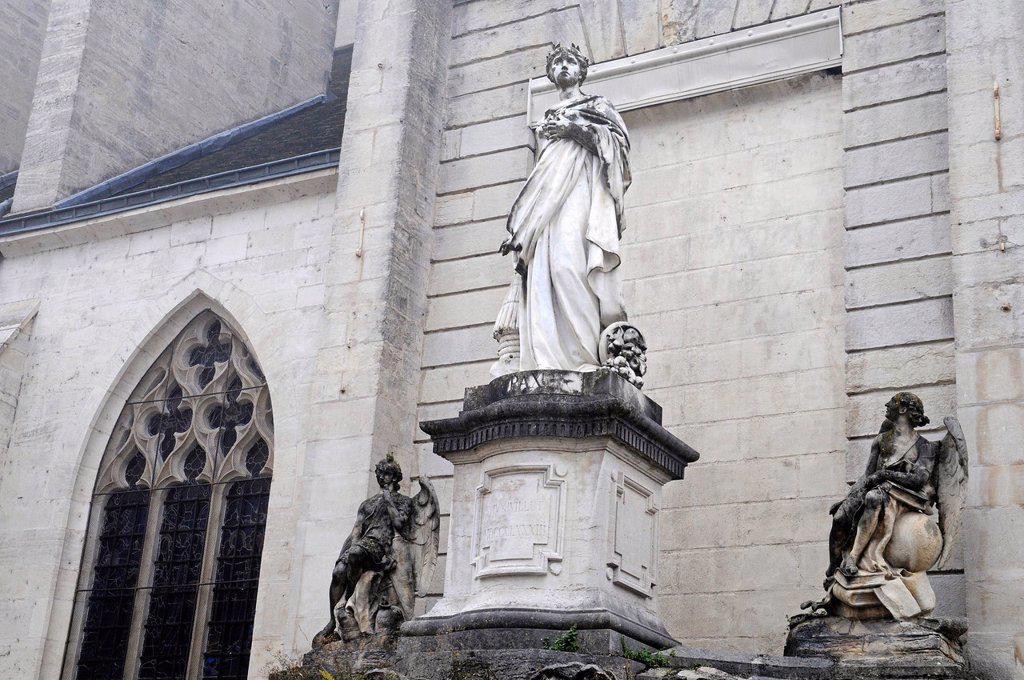 Collegiate Church of Notre_Dame, Dole, Department of Jura, Franche_Comté, France, Europe, PublicGround : Stock Photo