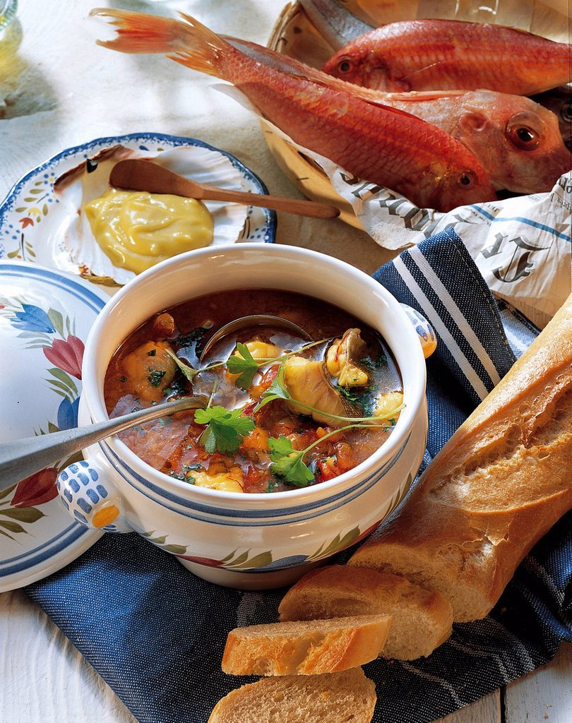 Stock Photo: 1848-582033 Bouillabaisse, France, recipe available for a fee