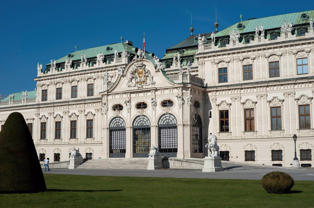 Schloss Belvedere Palace, Vienna, Austria, Europe : Stock Photo