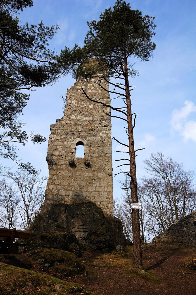 Stock Photo: 1848-584416 Wildenfels castle ruins, 13th Century, Wildenfels, Upper Franconia, Bavaria, Germany, Europe