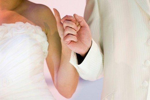 Stock Photo: 1848-5854 Wedding ceremony _ groom and bride hand in hand