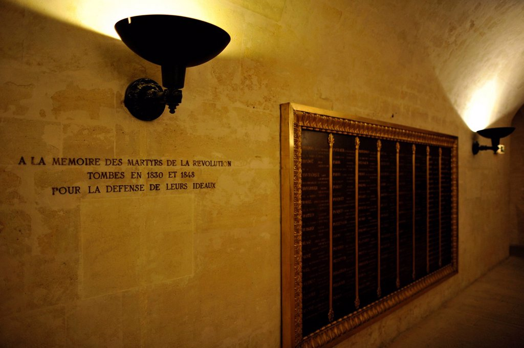 Stock Photo: 1848-585499 Interior, honorary grave for the fallen of the Revolution, crypt, National Hall of Fame Panthéon, Montagne Sainte_Genevieve, Paris, France, Europe