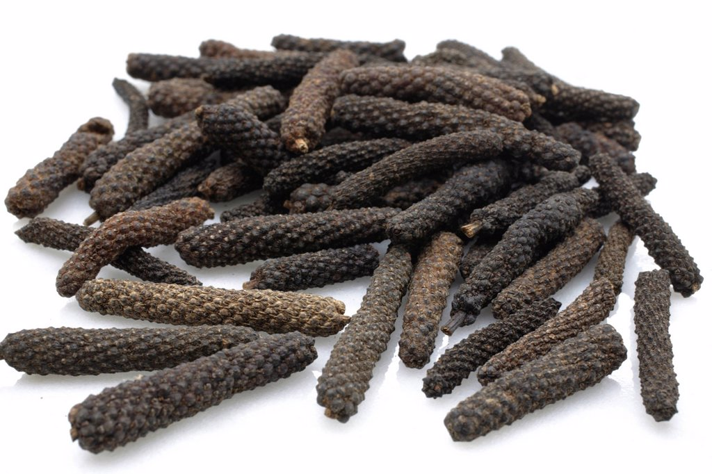 Stock Photo: 1848-586567 Pepper specialty, long pepper from Bengal, India