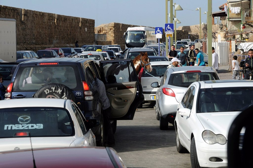 Stock Photo: 1848-588021 Road traffic in Akko, Acre, Israel, Middle East