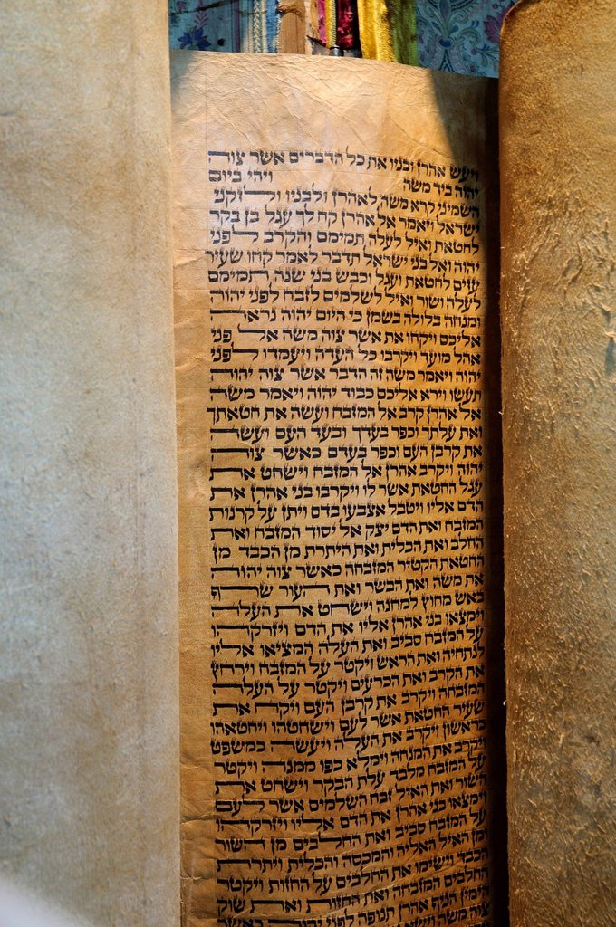 Stock Photo: 1848-588026 Hebrew text, Torah scroll, Israel, Middle East