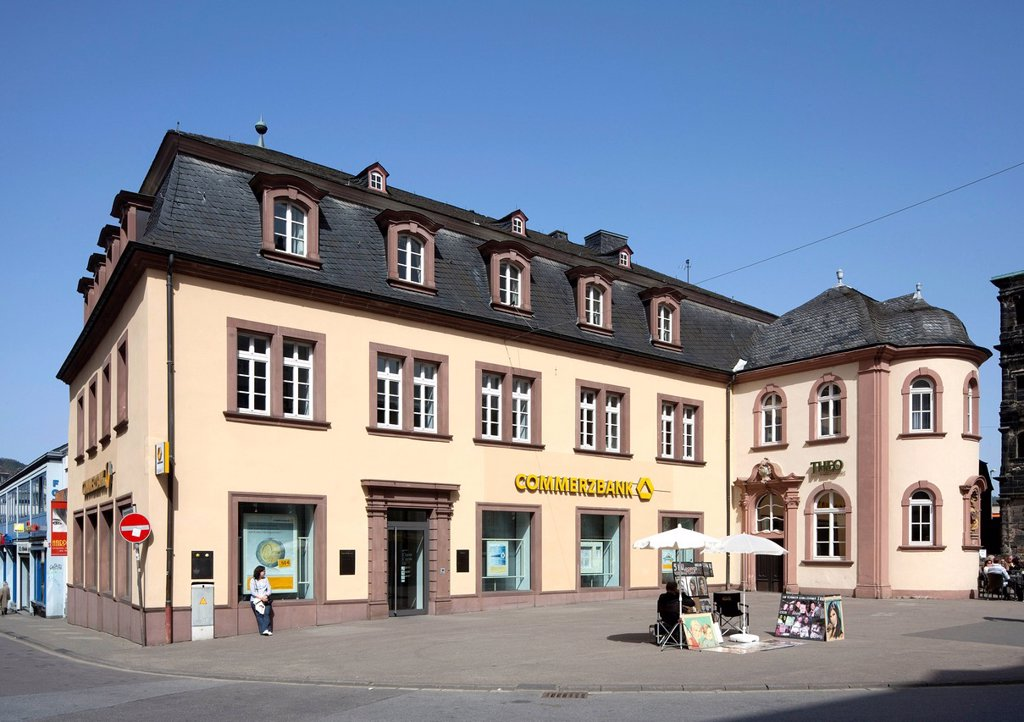 Former St._Nikolaus_Hospital, office building, Trier, Rhineland_Palatinate, Germany, Europe, PublicGround : Stock Photo