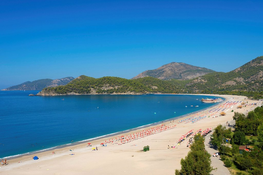 Stock Photo: 1848-589143 Oeluedeniz beach near Fethiye, Turkish Aegean Coast, Turkey