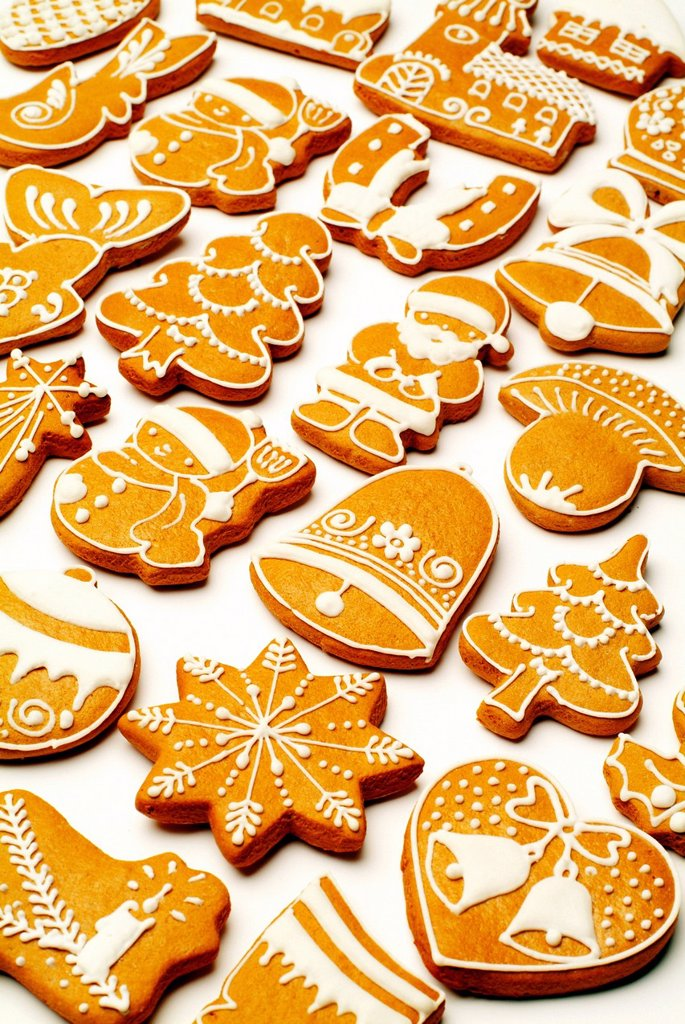 Stock Photo: 1848-589999 Gingerbread figures, Christmas cookies