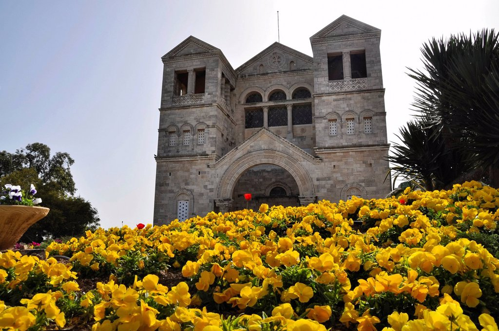 Stock Photo: 1848-593451 Church of the Transfiguration, Mount Tabor, Israel, Middle East, Southwest Asia, Asia