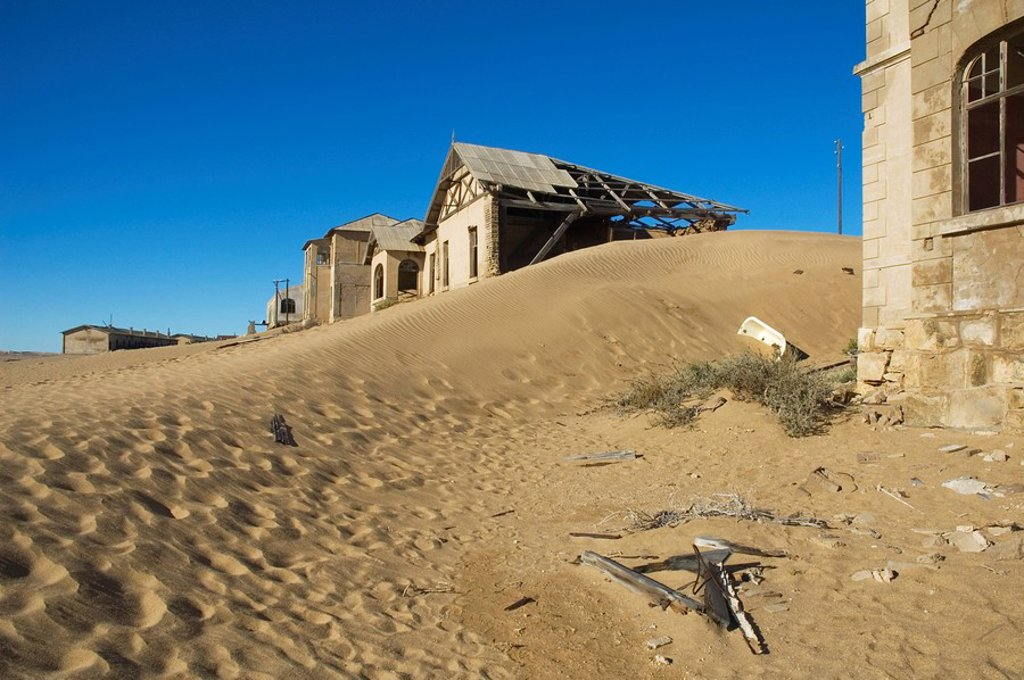 Stock Photo: 1848-59413 Kolmanskop, Ghost Town, former Diamond Mines, Luederitz, Namibia, South_West_Africa, Africa