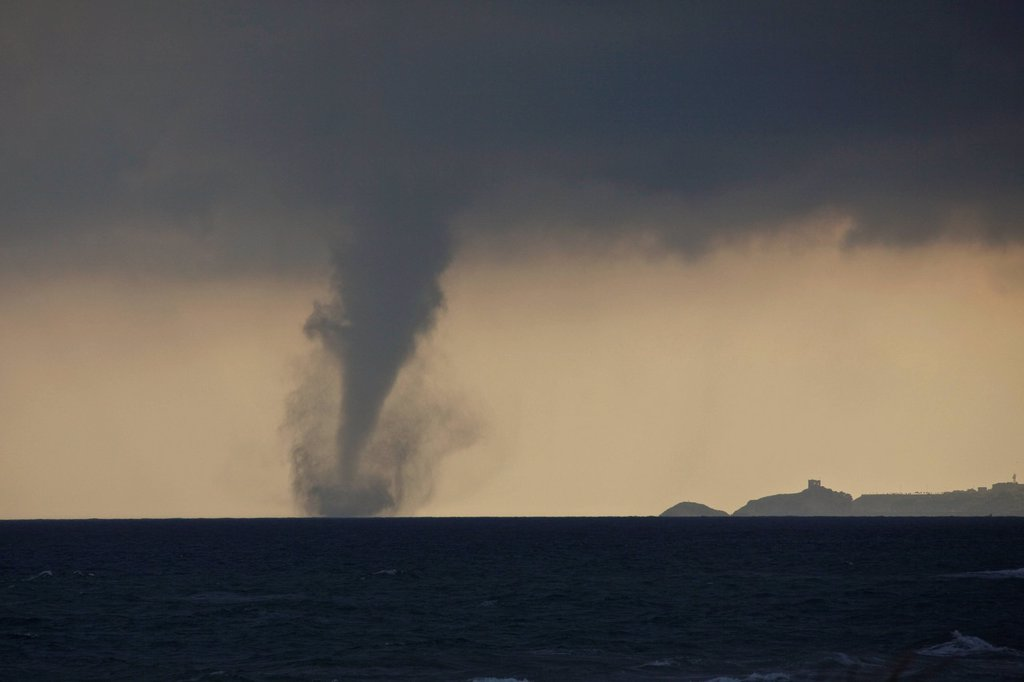 Stock Photo: 1848-594701 Tornado touching down at sea, Black Sea, Turkey