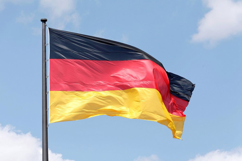 Stock Photo: 1848-595797 German flag