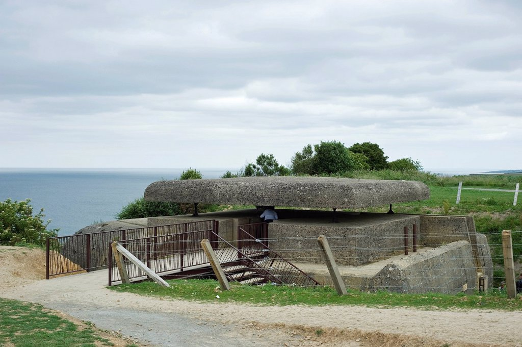 Atlantic Wall, D_Day, a German command post, fire control station at Longues sur Mer, Normandy, France, Europe : Stock Photo