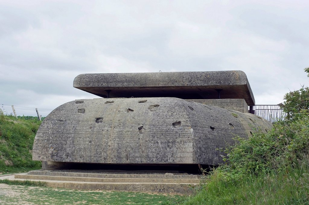 Atlantic Wall, D_Day, German command post, fire control station at Longues sur Mer, Normandy, France, Europe : Stock Photo