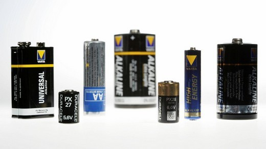 Stock Photo: 1848-59658 Different batteries