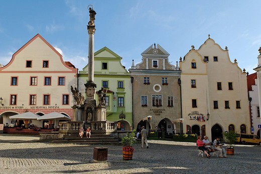 Historic old town of Cesky Krumlov, south Bohemia, Czech Republic : Stock Photo