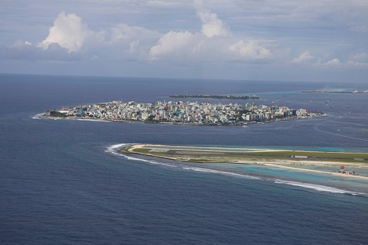 Malé International Airport of the Maldives, Male, Maldives, Indian Ocean, Asia : Stock Photo
