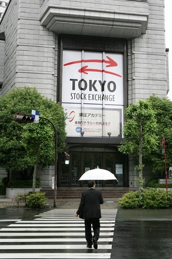 Stock Photo: 1848-59910 Tokyo Stock Exchange in the Nihombashi financial district, Tokyo, Japan, Asia
