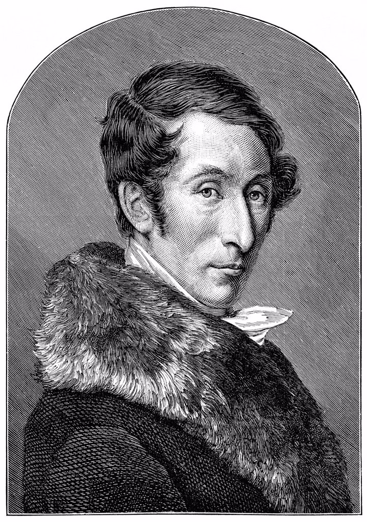 Stock Photo: 1848-599111 Historical drawing from the 19th Century, portrait of Carl Maria Friedrich Ernst von Weber, 1786_1826, German composer, conductor and pianist