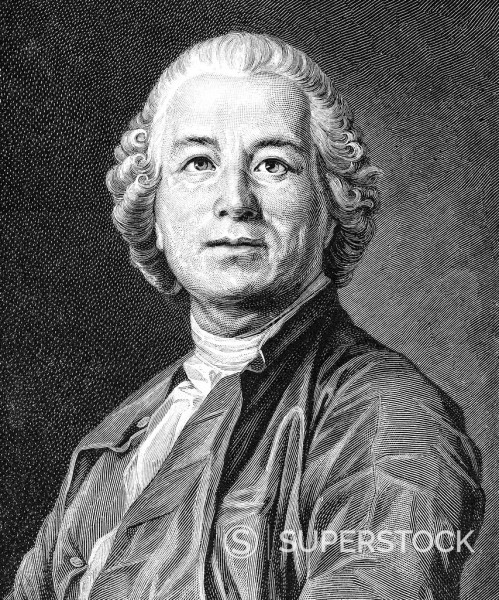 Stock Photo: 1848-599522 Historical drawing from the 19th Century, portrait of Christoph Willibald Ritter von Gluck, 1714_1787, German composer of the pre_classical period, opera composer of the 18th Century