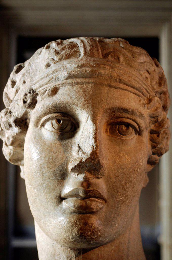 Sappho bust, Arkeoloji Muezesi or Archaeological Museum, Istanbul, Turkey, Europe : Stock Photo