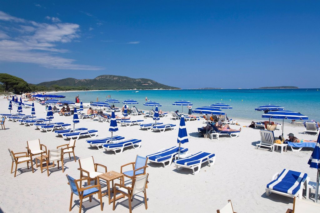 Stock Photo: 1848-600285 Palombaggia beach, south_east coast, mediterranean sea, Corsica, France, Europe