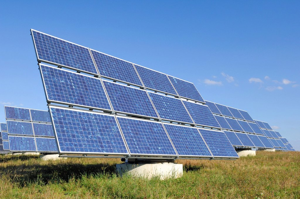 Stock Photo: 1848-600905 Solar energy plant