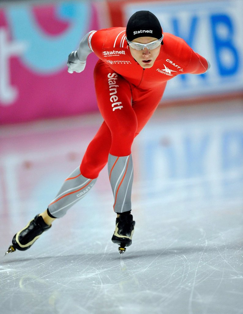 Havard Bokko, Norway, Essent ISU World Speedskating Championships 2011, Inzell Skating Stadium, Upper Bavaria, Germany, Europe : Stock Photo
