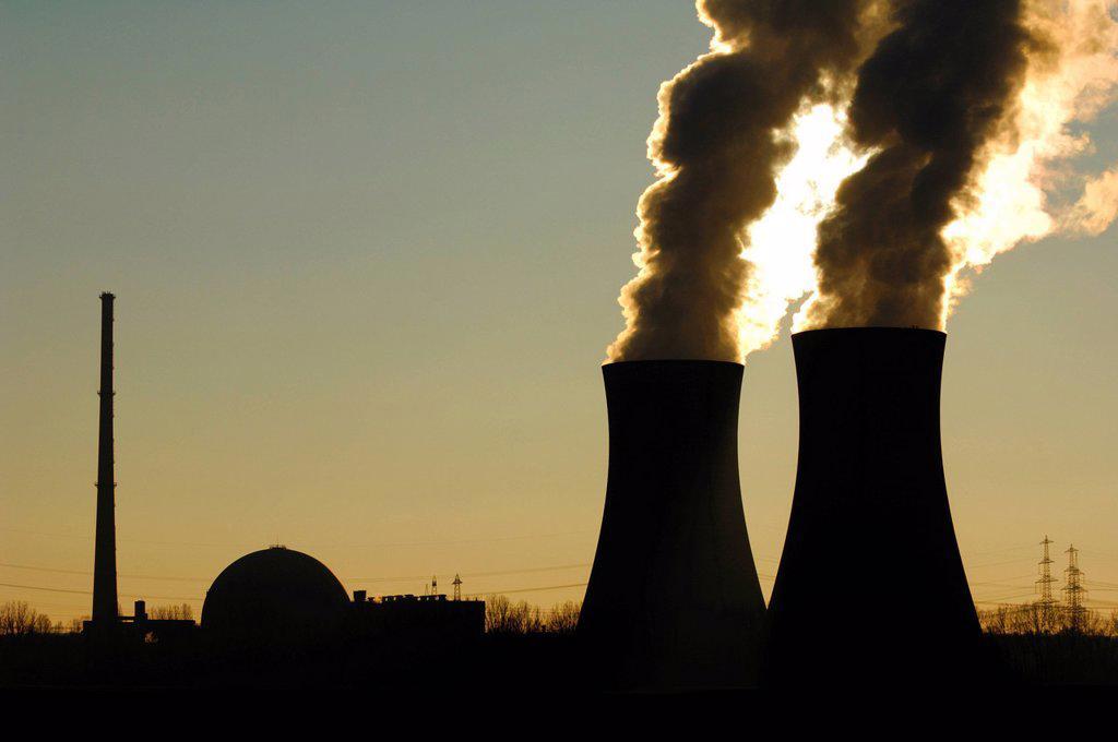 Stock Photo: 1848-601711 Nuclear power plant Grafenrheinfeld, Lower Franconia, Bavaria, Germany, Europe