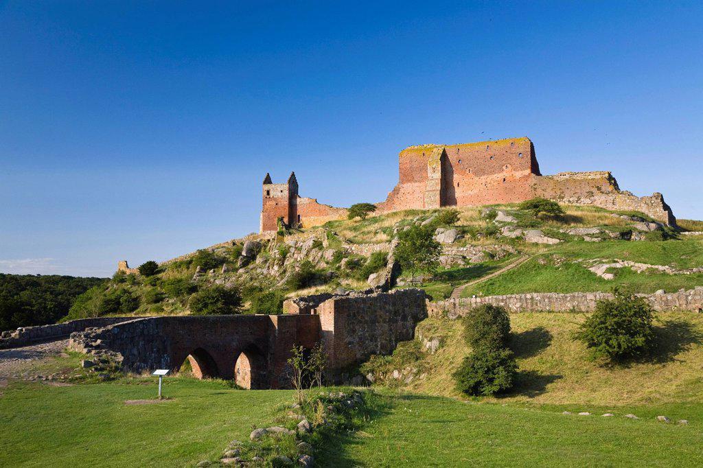 Stock Photo: 1848-602180 Hammershus castle ruins, Bornholm, Denmark, Europe