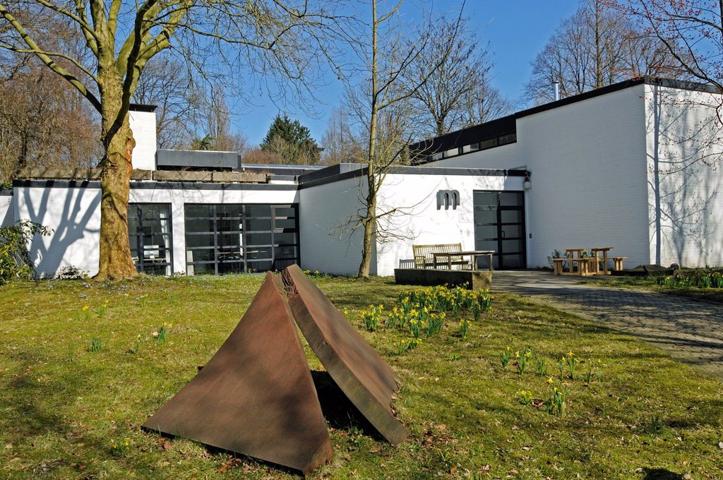 Galerie M art gallery, Haus Weitmar, Bochum, Ruhrgebiet area, North Rhine_Westphalia, Germany, Europe : Stock Photo