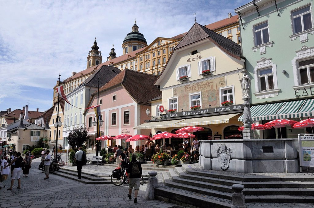 Melk, Lower Austria, Austria, Europe : Stock Photo