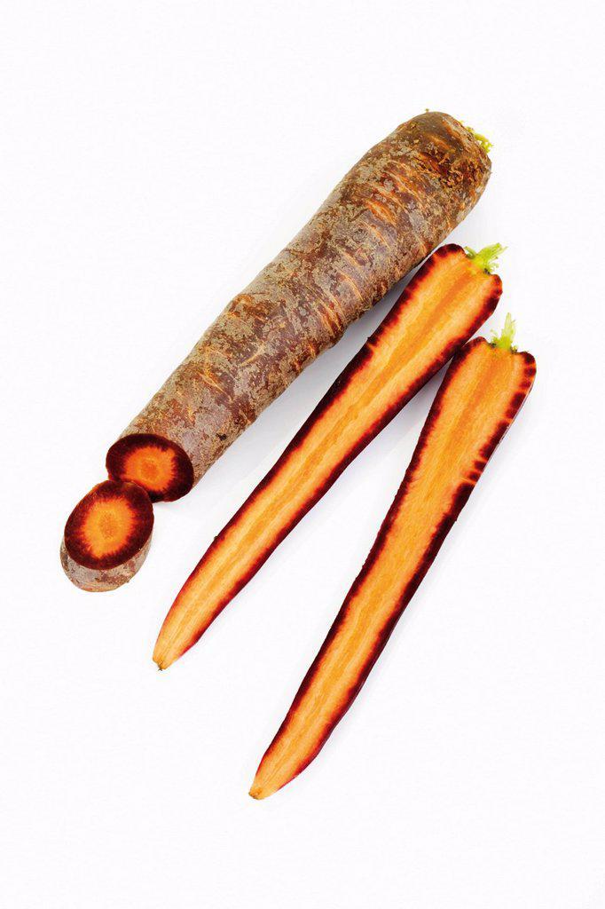 Stock Photo: 1848-603133 Purple carrots Daucus carota