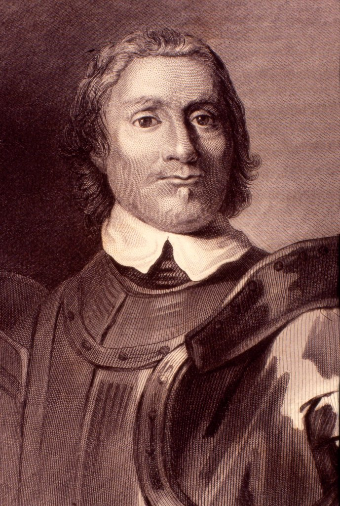 Stock Photo: 1848-603149 Oliver Cromwell, English statesman and politician, 1599 _ 1658, historic engraving, 1865