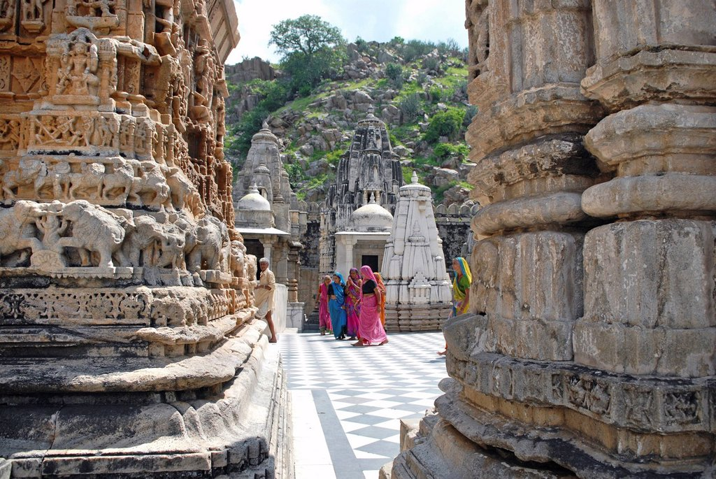 Stock Photo: 1848-603421 Eklingji temple complex in Udaipur, Rajasthan, India, Asia