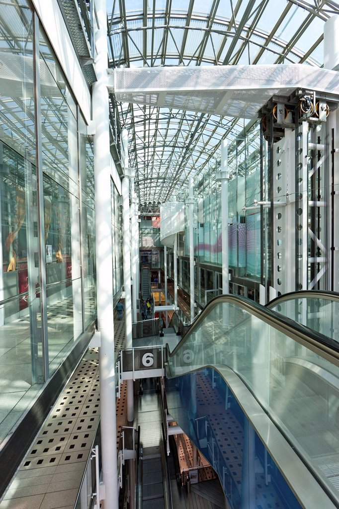 Zeilgalerie, shopping gallery on the Zeil, Frankfurt am Main, Hesse, Germany, Europe : Stock Photo