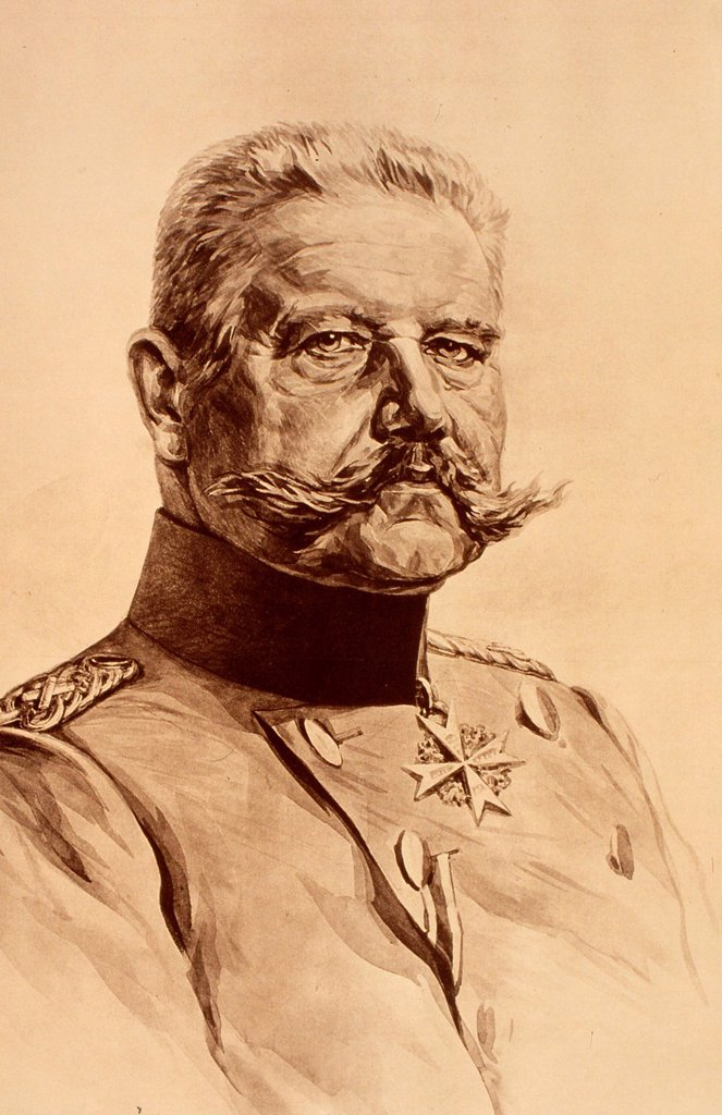 Stock Photo: 1848-603998 Paul Ludwig Hans Anton von Beneckendorff und von Hindenburg, Prussian German field marshal, statesman, politician, second President of Germany, Weimar Republic, painted by a German artist, 1932