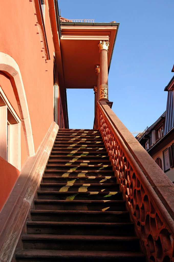 Stock Photo: 1848-604186 Staircase, Old Town Hall, 17th Century, Friedrichstrasse 1, Lahr/Schwarzwald, Baden_Wuerttemberg, Germany, Europe