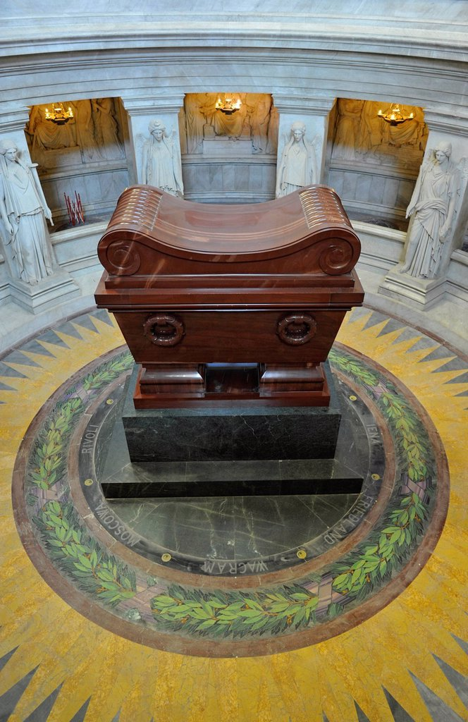 Stock Photo: 1848-604337 Crypt tomb of Napoleon, Dome des Invalides or Eglise du Dome church, Napoleon´s tomb, Paris, France, Europe