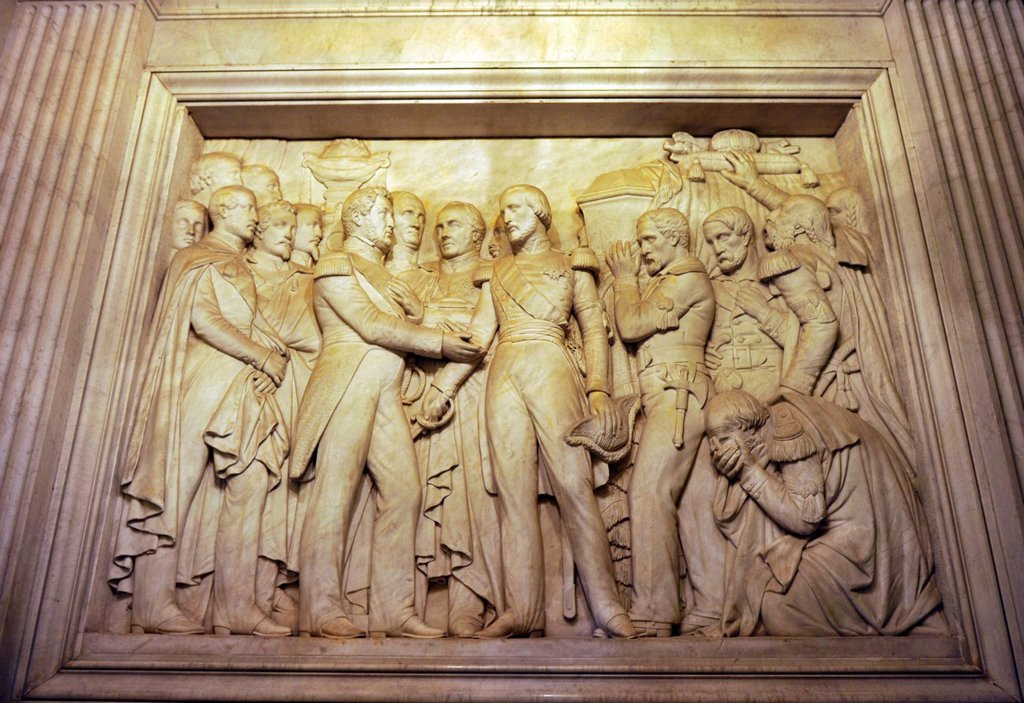 Stock Photo: 1848-604339 Wall relief, crypt of Napoleon, Dome des Invalides or Eglise du Dome church, Napoleon´s tomb, Paris, France, Europe