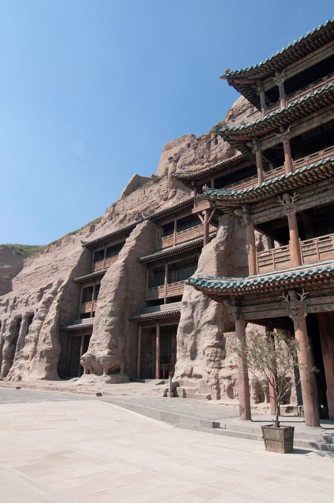 Stock Photo: 1848-605045 Yungang Grottoes, early Buddhist cave temples, Unesco World Heritage Site, Shanxi, China, Asia