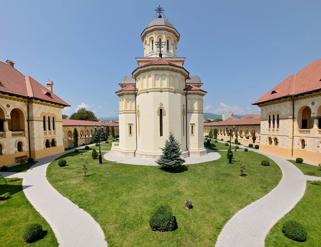 Coronation Cathedral of the Romanian Orthodox Church, Alba Julia, Karlsburg, Romania, Europe : Stock Photo