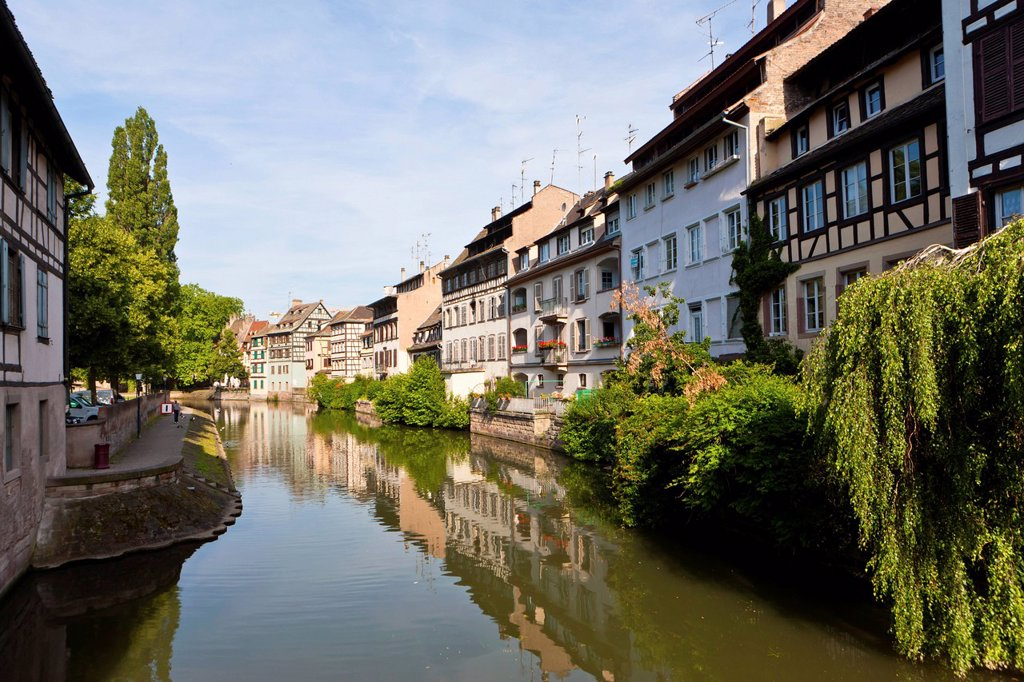 District of La Petite France, Strasbourg, Ill, Alsace, France, Europe : Stock Photo